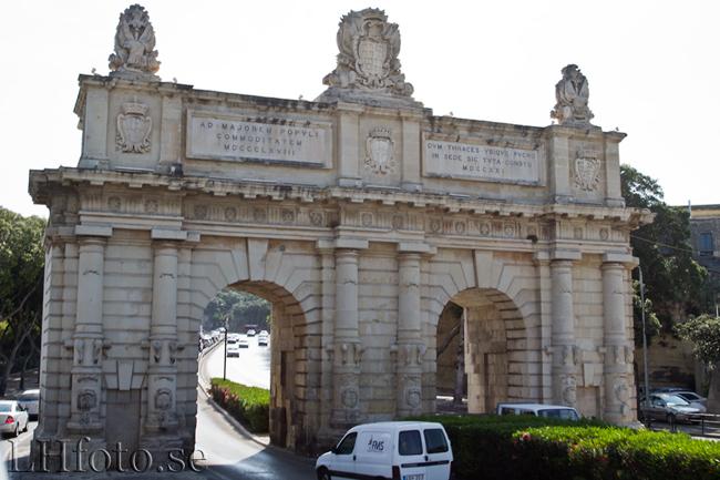 Portes des Bombes mellan Floriana och Valletta