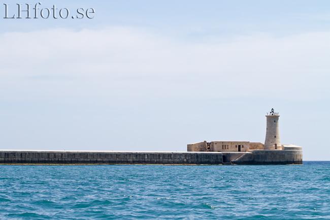 St Elmo-fyren. Harbour Cruise, Malta