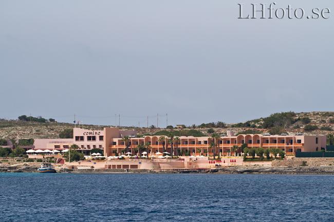 Båtresa från Sliema till Gozo. Comino Hotel