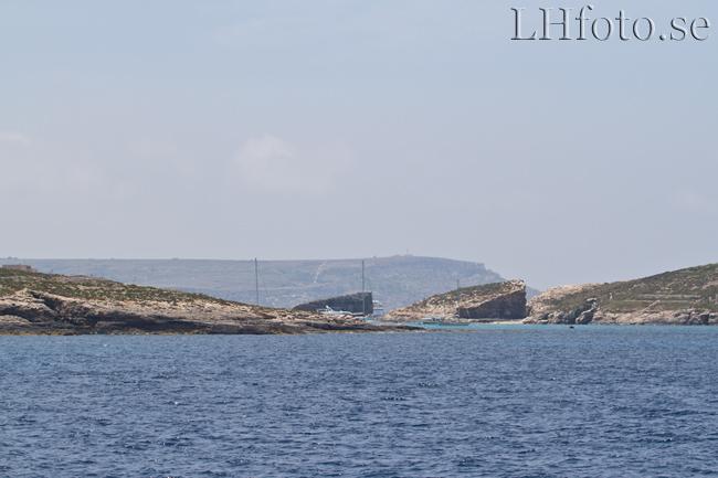 Båtresa från Sliema till Gozo. Blue Lagoon, Comino